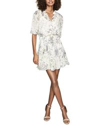 Reiss Naomi Floral Short Sleeve Dress - Multicolour
