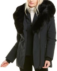 Mackage Akiva-bx Leather-trim Jacket - Black