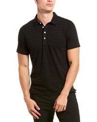 Billy Reid Donegal Stripe Regular Fit Polo Shirt - Black