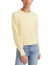 Club Monaco Chevron Blousant Sleeve Sweater - Yellow