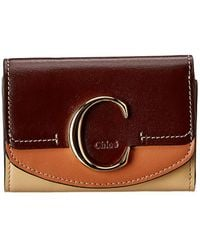 Chloé C Small Leather Trifold Wallet - Multicolour
