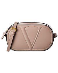 Valentino Garavani Vlogo Walk Leather Crossbody - Brown