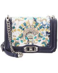 Rebecca Minkoff Small Embellished Love Crossbody Bag - Blue