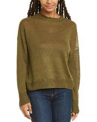 INHABIT Linen Button Sweater - Green