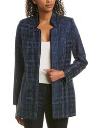Elie Tahari Silk-trim Jacket - Blue