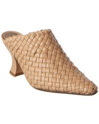 Bottega Veneta Almond Intrecciato Leather Mule - Natural