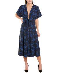 Equipment Nauman Midi Dress - Blue