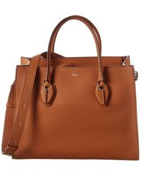 Tod's Medium Leather Shopping Tote - Brown