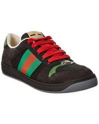 Gucci Screener Suede Sneaker - Black