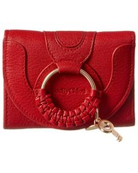 See By Chloé Hana Leather Continental Wallet - Red