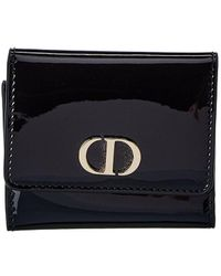 Dior Patent French Wallet - Black