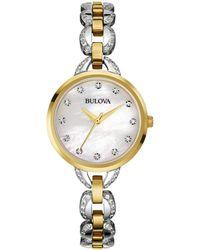 Bulova Women's Stainless Steel Watch - Metallic