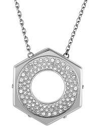 Swarovski Crystal Plated Stainless Steel Necklace - Metallic