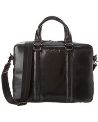 Robert Graham Mantalos Leather Briefcase - Black