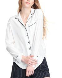 Rag & Bone Luca Silk Pyjama Top - Multicolour