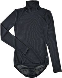Hanky Panky Turtleneck Mesh Bodysuit - Multicolour