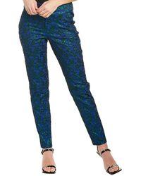 Nicole Miller Collection Floral Pant - Blue