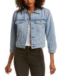 7 For All Mankind - 7 For All Mankind Shrunken Jacket - Lyst