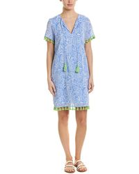 Sail To Sable Tunic Dress - Blue
