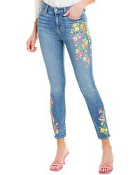 7 For All Mankind 7 For All Mankind Vintage Embroidery High-waist Ankle Skinny Leg - Blue