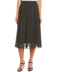 Anne Klein A-line Skirt - Black
