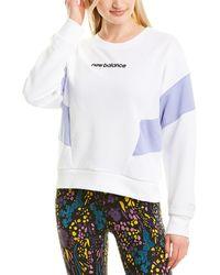 New Balance Athletics Classic Fleece Top - White