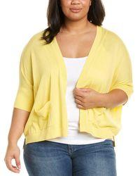 Joan Vass Plus Boxy Cardigan - Yellow