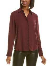 Laundry by Shelli Segal Scalloped Top - Red
