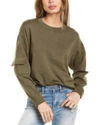 Monrow Patch Pocket Sweatshirt - Green