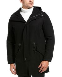 Cole Haan Melton Coat - Black