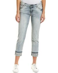 Kut From The Kloth Catherine Moderated Boyfriend Cut - Blue