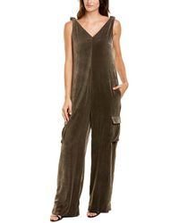 Brunello Cucinelli Velour Silk-blend Jumpsuit - Multicolour
