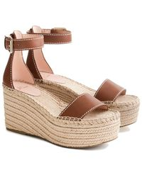 J.Crew Simple Marina Leather Wedge - Brown