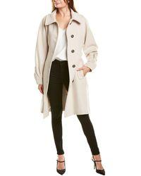 Les Copains Wool Coat - White