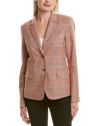 Lafayette 148 New York Thatcher Wool & Silk-blend Blazer - Multicolour