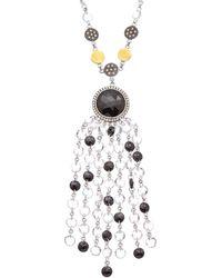 Coomi Opera Silver 64.16 Ct. Tw. Diamond & Black Spinel & Crystal Necklace - Metallic