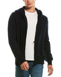 Benson Knit Wool & Cashmere-blend Hoodie - Blue