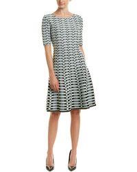 St. John Wool-blend A-line Dress - Blue