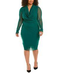 Fuzzi Plus Midi Dress - Green