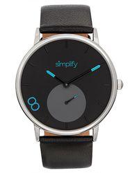 Simplify Unisex The 7200 Watch - Black