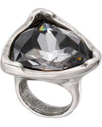 Uno De 50 - Unode50 Eyn Silver Plated Crystal Ring - Lyst