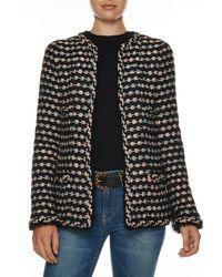 Chanel Black Heirloom Stripe Mohair Bouclè Jacket (size S)