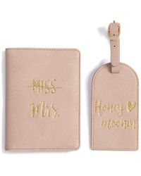 """Shiraleah """"miss To Mrs/honeymoonin"""" Passport And Luggage Tag Gift Set - Multicolour"""
