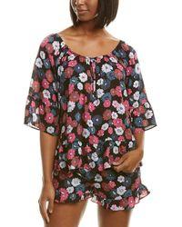 Kensie Pyjama Top - Black