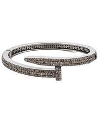 Arthur Marder Fine Jewelry Silver 5.50 Ct. Tw. Diamond Nail Bracelet - Metallic