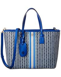 Tory Burch Gemini Link Small Tote - Blue