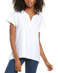 Lyssé Stretch Woven Tunic - White