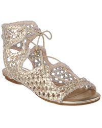 Joie Metallic Braided Sandals