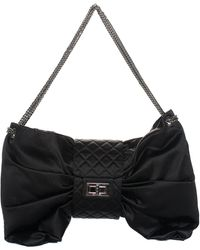 Chanel Limited Edition Black Quilted Satin Runway Xl Maxi Bag, Never Carried