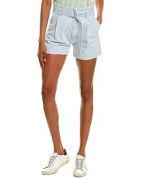 Club Monaco Coh Yvette Linen-blend Short - Blue